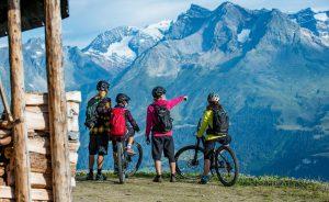 Moutainbike in Obersaxen